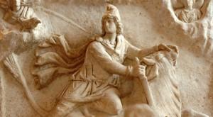 Mithras_tauroctony_Louvre_Ma3441b