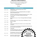 David_In_Cultural_Memory_Conference