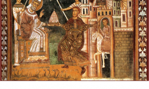 Donation of Constantine, Chael of Pope Sylvester I, Church of Santi Quattro Coronati, Rome