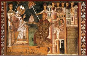 Donation of Constantine, Chael of Pope Sylvester I, Church of Santi Quattro Coronati, Rome